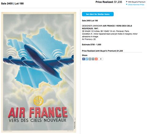 Air France - Vers des ciels nouveaux - Original Vintage Airline Poster