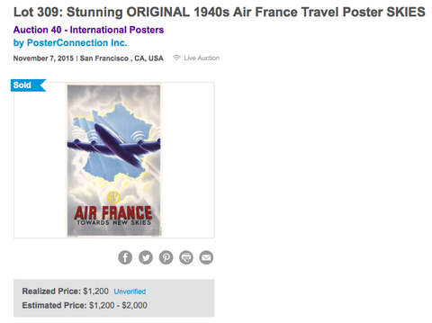 Air France - Towards new skies - Original Vintage Poster
