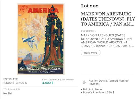 Pan American Airways - America by Clipper - Mark v. Arenburg - Original Vintage Airline Poster