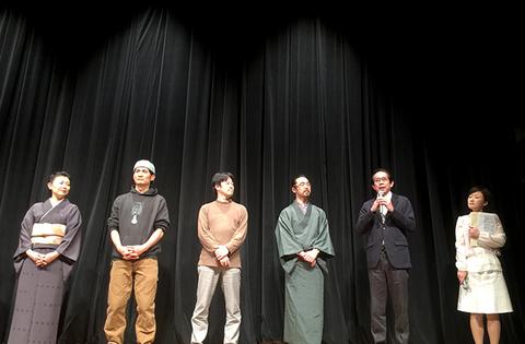 深川江戸資料館で初上映された「小名木川物語」の舞台挨拶