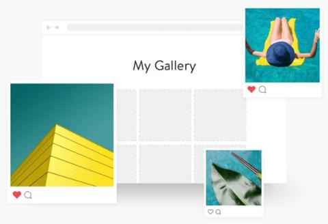 Biblioteca e imágenes sociales integradas