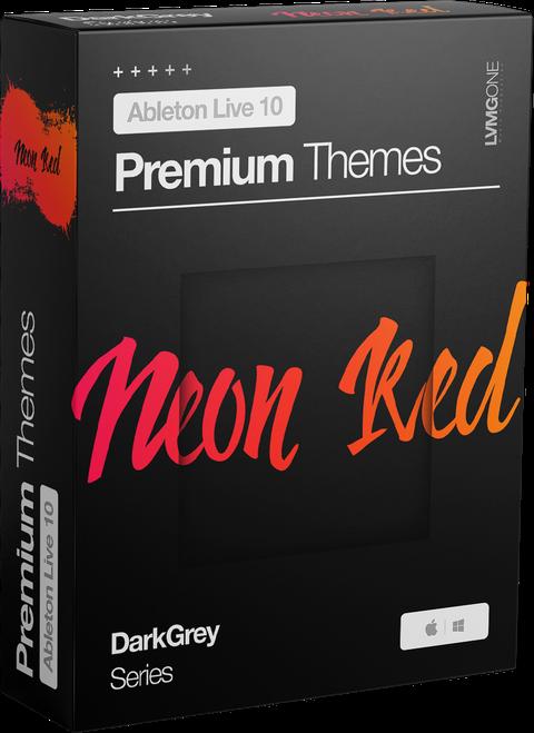 Ableton Live 10 theme NeonRed Software Box