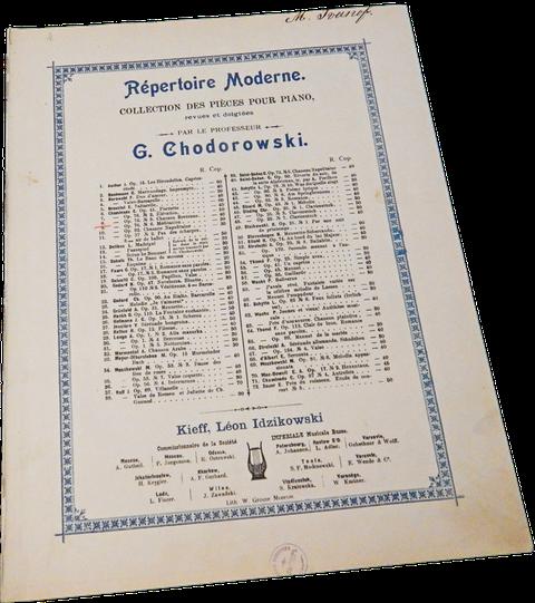 Бретонская песня, Сесиль Шаминад, старинные ноты, обложка (фото)