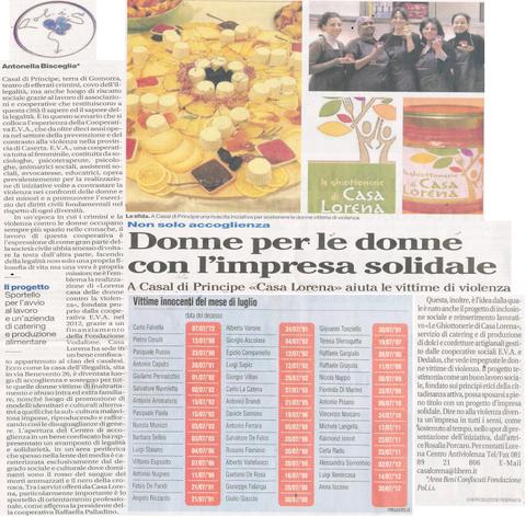 Da Il Mattino del 15/07/2013