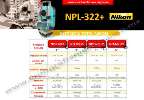 diferencias estacion total nikon npl322