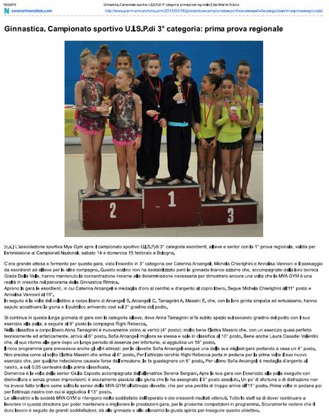 """da """"sanmarinonotizie.com"""" del 16/02/2015"""