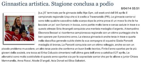 """Articolo """"Sanmarinonotizie"""" 08/04/14"""