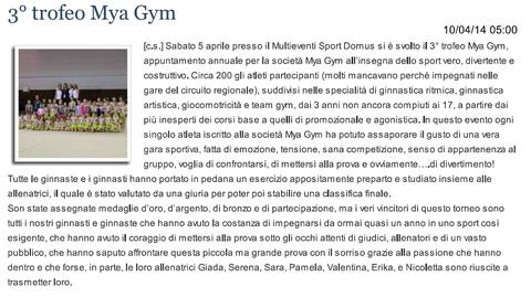 """Articolo """"Sanmarinonotizie"""" 10/04/2014"""