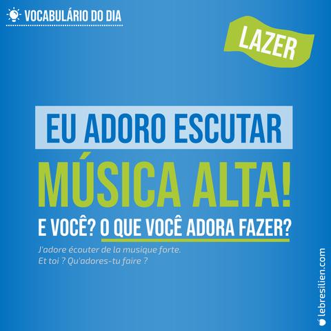 Vocabulaire en portugais - activités de loisir