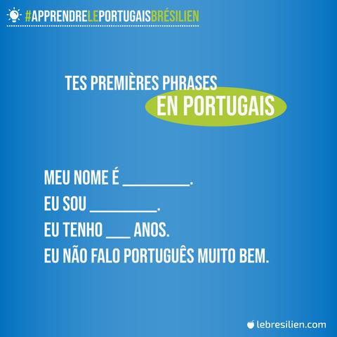 premieres phrases en portugais