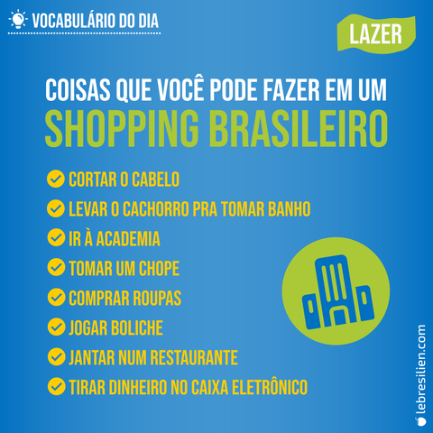 Vocabulaire en portugais - activités de loisir culture brésilienne