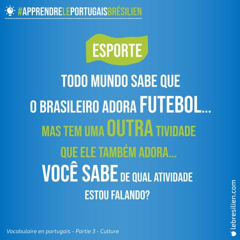 vocabulaire en portugais sport