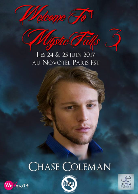 6/24-6/25/17 - Paris, France - Welcome to Mystic Falls 3 - With Chase Coleman.