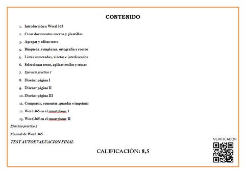 IMAGEN DEL DIPLOMA CERTIFICADO DEL CURSO ONLINE DE WORD 365