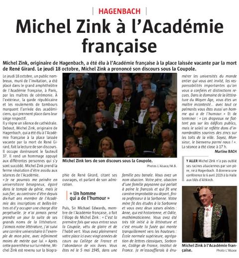L'Alsace du 7 novembre 2018