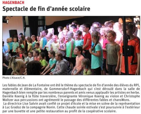 L'Alsace du samedi 6 juillet 2019