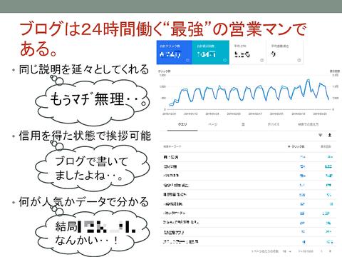 """ブログは24時間働く""""最強""""の営業マン…"""