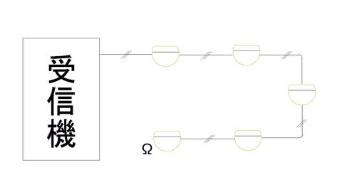 2心回しの自火報感知器配線図