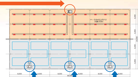 上:熱電対式の検出器1つ 下:空気管式の検出器3つ
