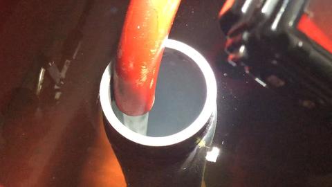 常時逃がし配管の通水を確認