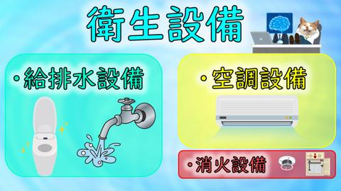 「衛生設備」内の消火設備イメージ