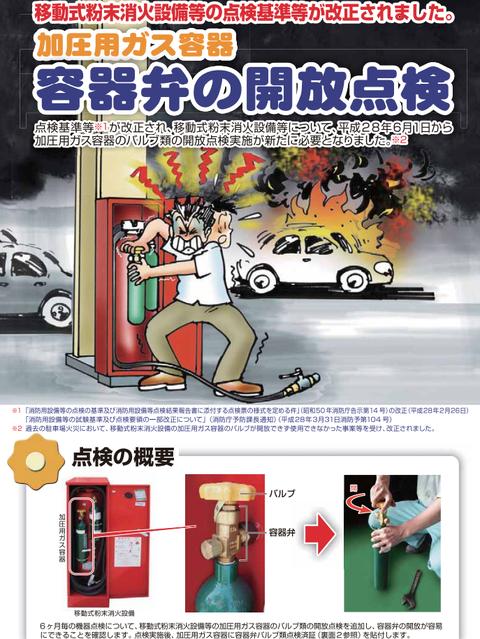 移動式粉末消火設備の点検基準改正リーフレット