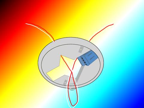 感知器をつける箇所で輪っか