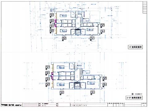 建具配置図
