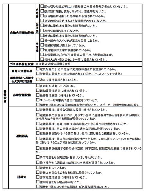 消防 立入検査 チェック表