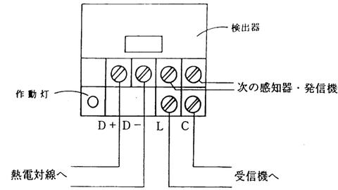 熱電対式差動分布型感知器 検出器配線