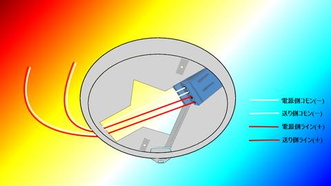2心回しの感知器配線