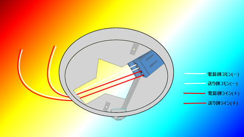 2心回しの自火報感知器配線イラスト