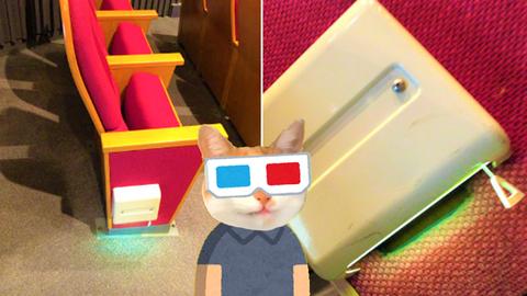 客席誘導灯は映画館など
