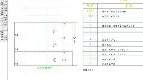 自動火災報知設備の配線系統図
