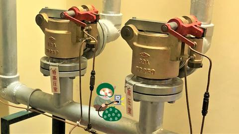 二酸化炭素消火設備の選択弁