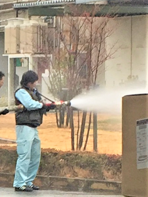 動力消防ポンプ 放水試験