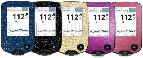 Freestyle Libre Messgerätsticker Skins als Glitzeredition