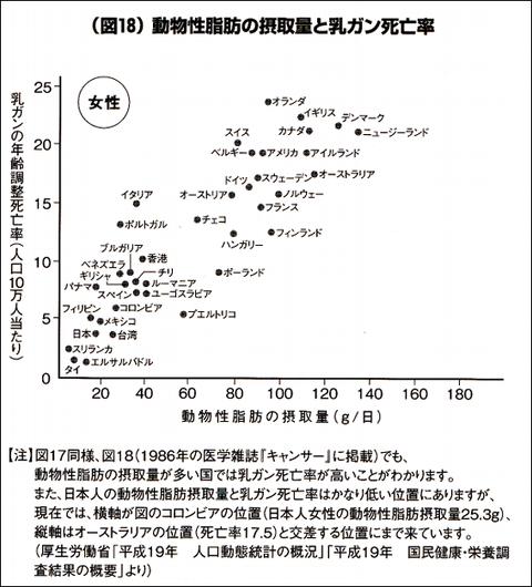 動物性脂肪摂取と乳癌の相関