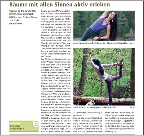 Baumyoga - Bäume mit allen Sinnen aktiv erleben