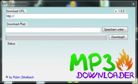 Benutzeroberfläche des MP3-Downloaders