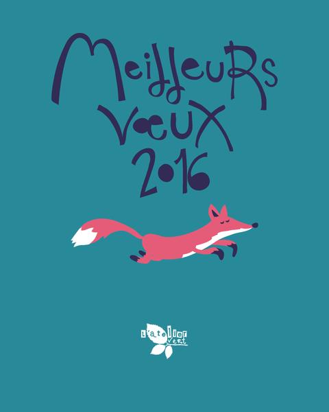 L'Atelier Vert, Éducation à l'environnement et Animations Nature, Meilleurs voeux 2016