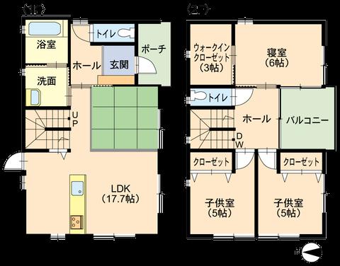 STARHOMEの建売住宅の間取り図です