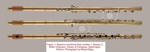 Flûte cylindrique n° 1 de Theobald Böhm - Photo reproduite avec l'aimable autorisation de Robert Bigio. (www.bigio.com)