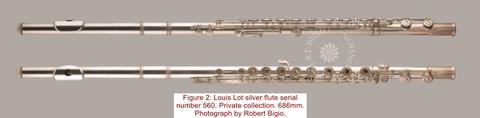 Flûte  Louit  Lot  n° 560  -  Photo  reproduite  avec  l'aimable  autorisation  de  Robert Bigio. (www.bigio.com)