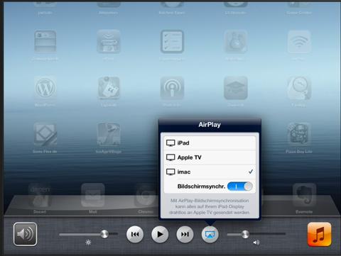 Der Computer (iMac als Apple TV), geht auch mit PCs