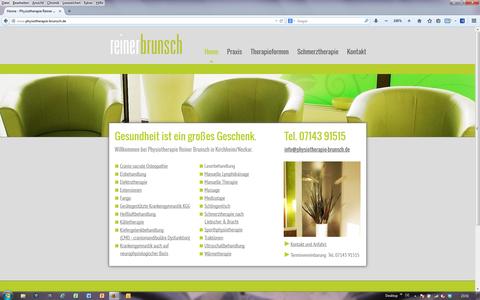 Website von Homepage-Alarm Sindelfingen für Physiotherapie Brunsch, Kirchheim/Neckar