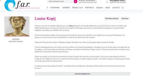 article sur le site du réseau Femmes Actives en Réseau
