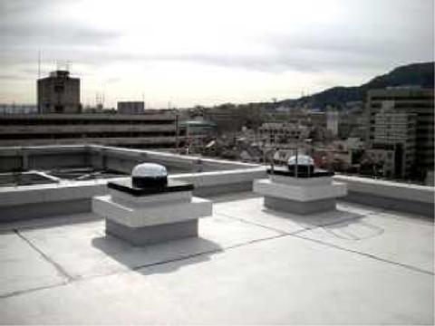▲屋上に取り付けられた採光ドーム