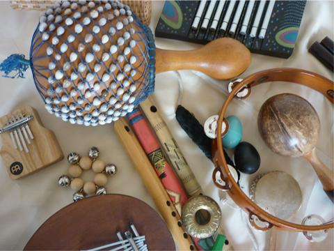 Instrumente Musiktherapie