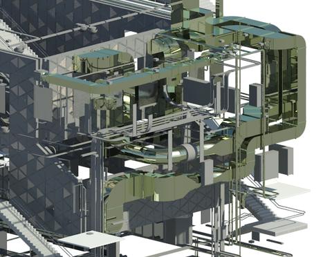 Exemple d'un tracé de gaines avec Autodesk Revit